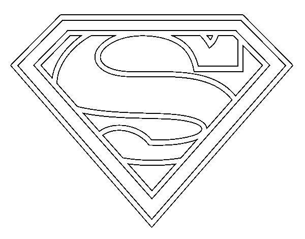 Dibujo de Escudo de Superman para Colorear
