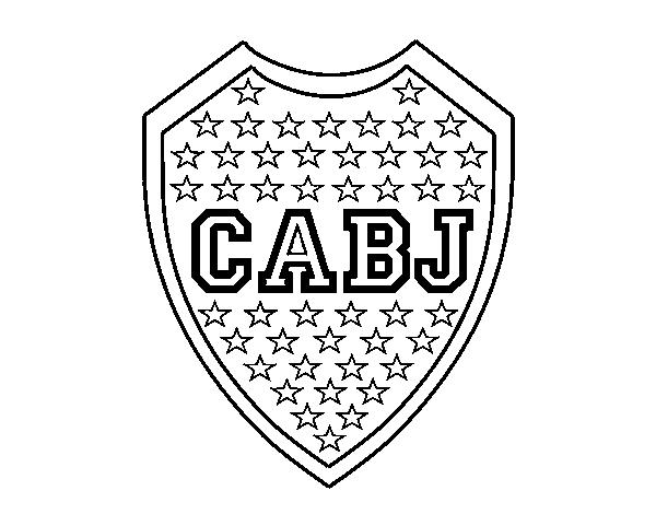 Dibujo de Escudo del Boca Juniors para Colorear  Dibujosnet