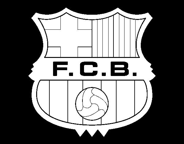 Dibujo de Escudo del F.C. Barcelona para Colorear - Dibujos.net