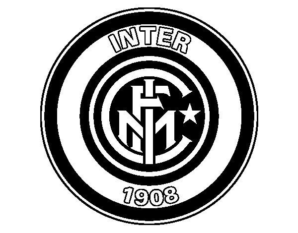 Dibujo de Escudo del Inter de Milán para Colorear