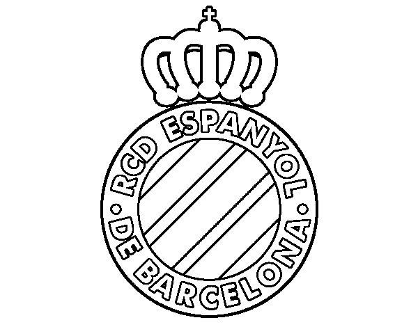 Dibujo de Escudo del RCD Espanyol para Colorear