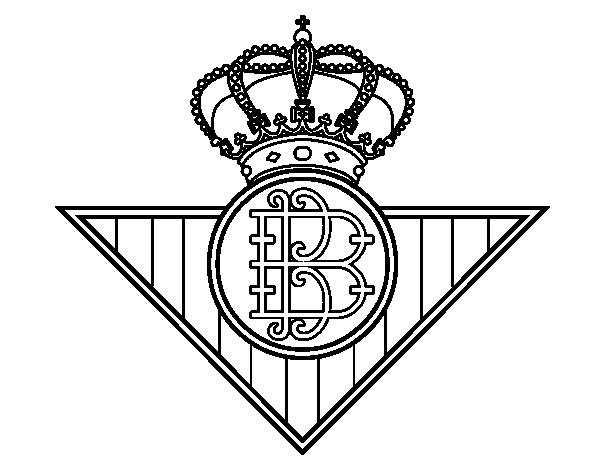 Dibujo de Escudo del Real Betis Balompi para Colorear  Dibujosnet