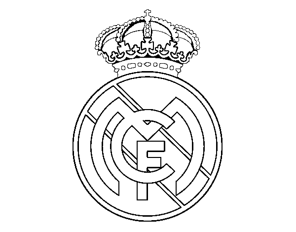 Dibujos Del Atletico De Madrid Para Colorear: Escudo Del Real Madrid Para Calcar