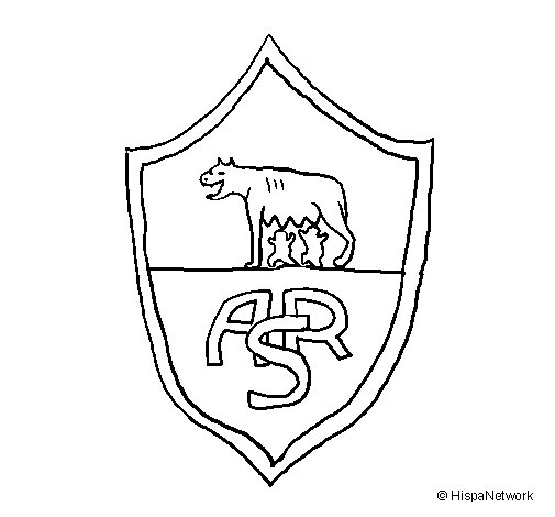 Dibujo de Escudo romano para Colorear