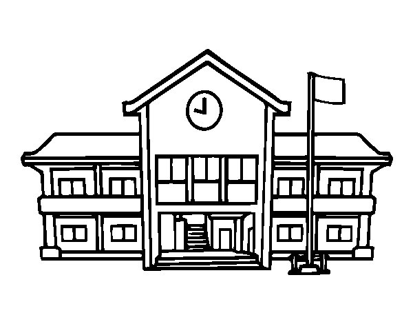 Dibujo de Escuela para Colorear  Dibujosnet