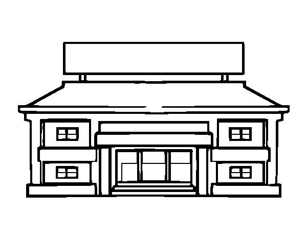 Dibujo de Escuela primaria para Colorear  Dibujosnet