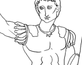 Dibujo de Escultura del César para colorear