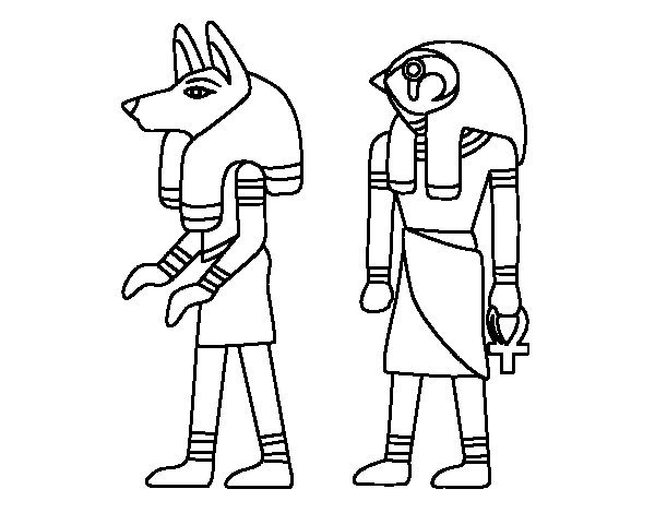 Dibujo De Esfinges Egipcias Para Colorear Dibujos Net