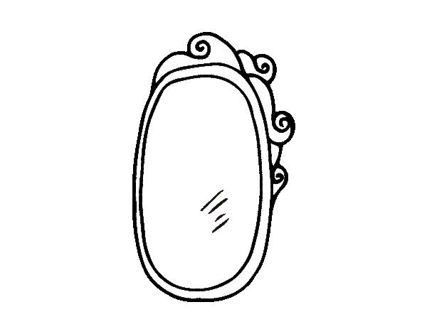 Dibujo de espejo con marco para colorear for Pintar marco espejo