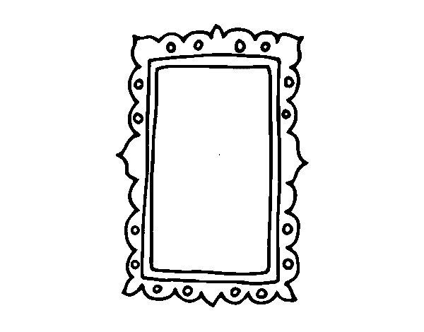 Dibujo de espejo de pared para colorear for Espejos grandes de pared vintage