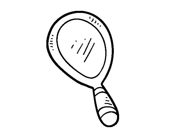 Dibujo de espejo mano para colorear for Hendrik andriessen miroir de peine