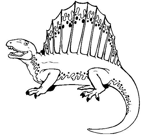 Dibujo de Espinosaurio para Colorear