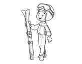 Dibujo de Esquí para colorear