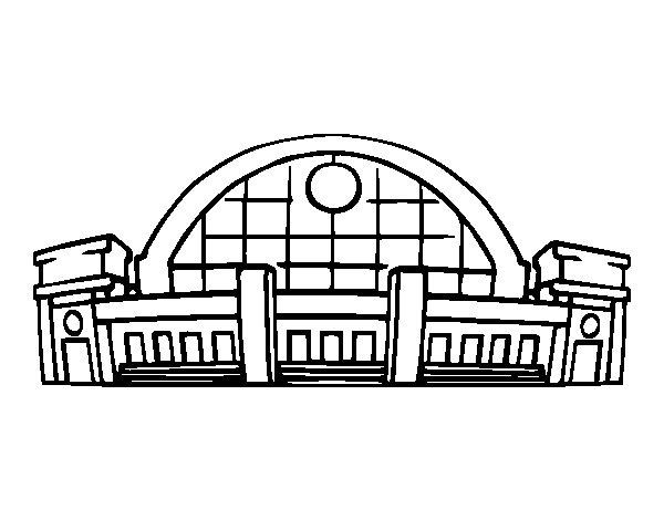Dibujo de Estación de ferrocarril para Colorear