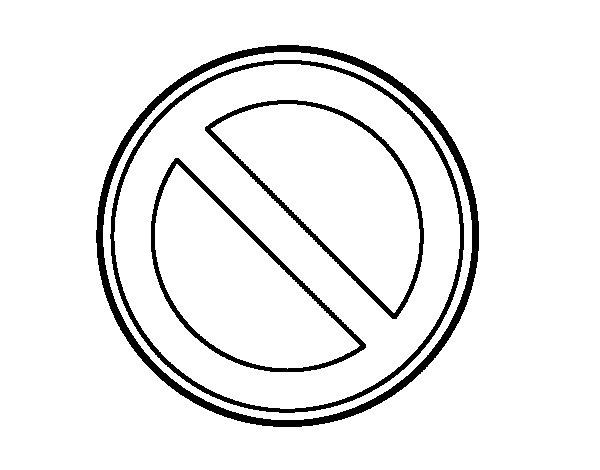 Dibujo de Estacionamiento prohibido para Colorear  Dibujosnet