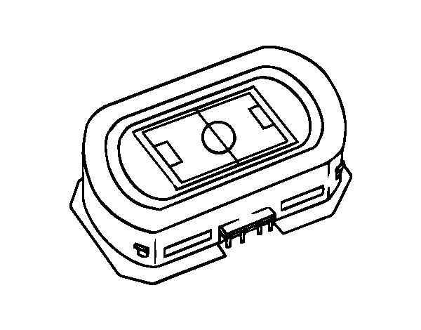 Dibujo de Estadio de ftbol para Colorear  Dibujosnet