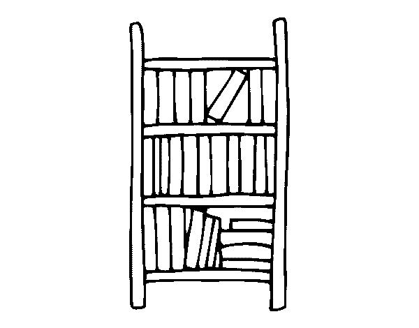 Dibujo de estanter a para colorear - Dibujos de estanterias ...