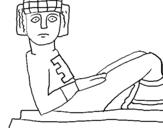 Dibujo de Estatua Chac Mool para colorear
