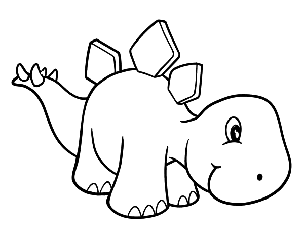 Dibujo de estegosaurio beb para colorear - Dessin diplodocus ...