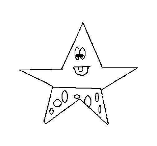 Dibujo de Estrella 3 para Colorear