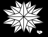 Dibujo de Estrella brillante para colorear