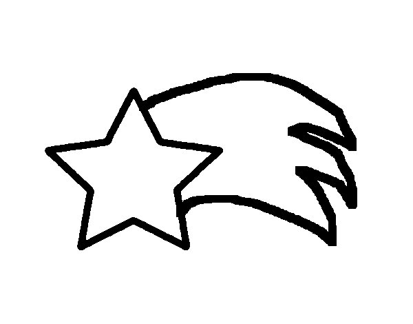 Dibujo de Estrella de Belén para Colorear