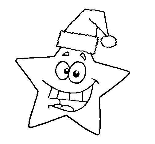 Dibujo de Estrella de navidad para Colorear