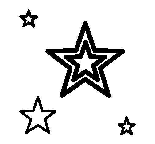 Dibujo de Estrellas para Colorear  Dibujosnet