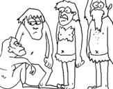 Dibujo de Evolución del hombre para colorear