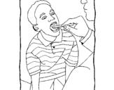 Dibujo de Examen de garganta para colorear