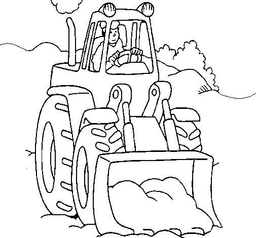 Dibujo de Excavadora para Colorear