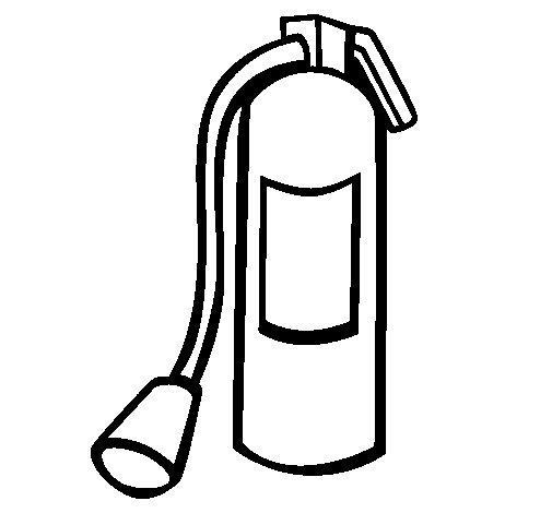 Dibujo de Extintor para Colorear