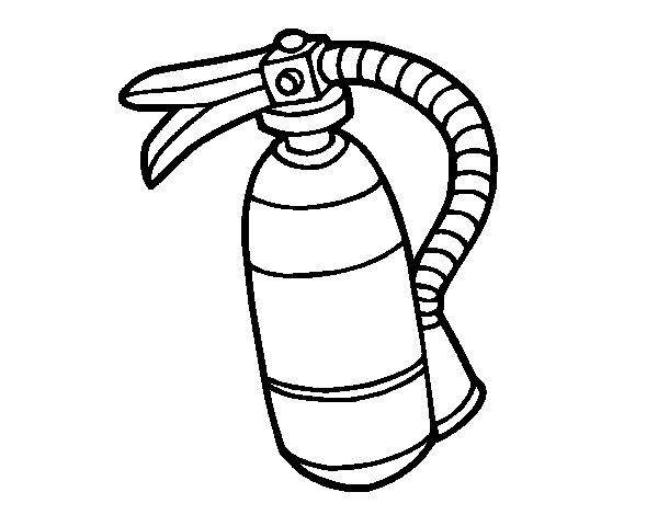 Dibujo de Extintor de fuego para Colorear  Dibujosnet