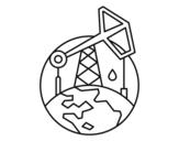 Dibujo de Extractor de petróleo para colorear
