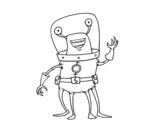 Dibujo de Extraterrestre con cuatro piernas