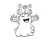 Dibujo de Extraterrestre simpático para colorear