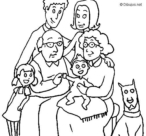 Dibujo de Familia para Colorear