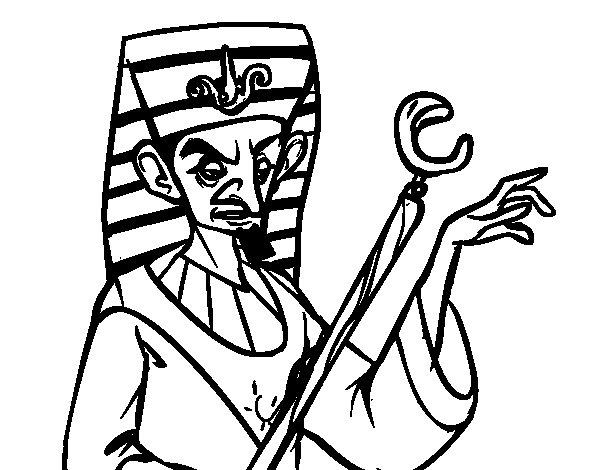 Dibujo de Faraón enfadado para Colorear