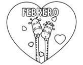 Dibujo de Febrero