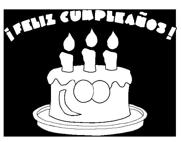 Dibujo de Feliz cumpleaños para Colorear