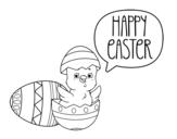 Dibujo de Feliz día de Pascua para colorear