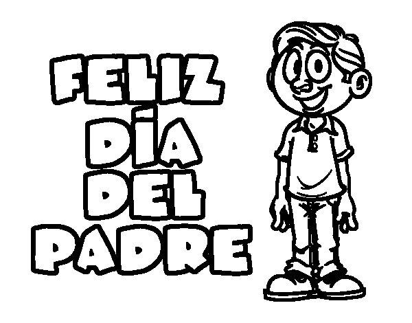 Dibujo de Feliz día del padre para Colorear