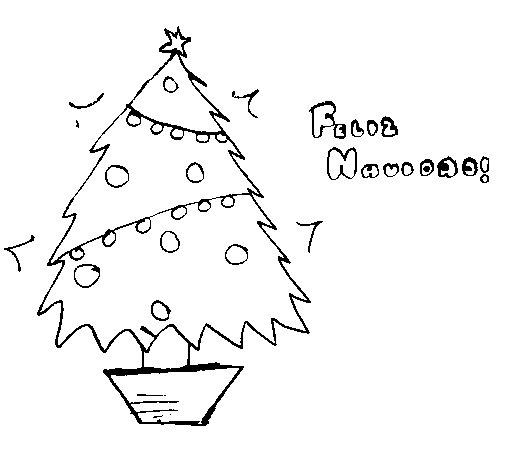 Dibujo de Feliz Navidad 2 para Colorear