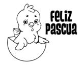 Dibujo de Feliz Pascua a todos