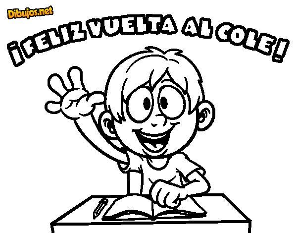 Dibujo de Feliz vuelta al cole para Colorear