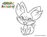 Dibujo de Fennekin para colorear