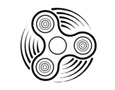 Dibujo de Fidget spinner para colorear