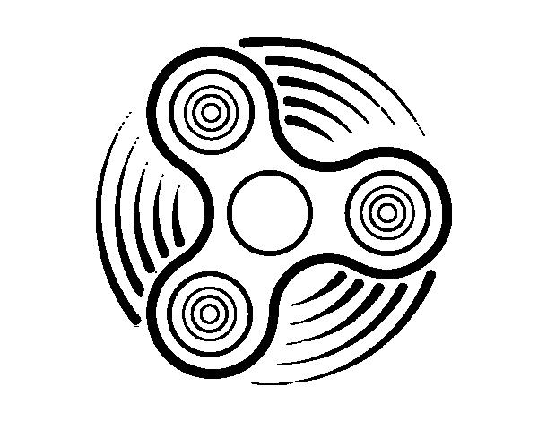 Dibujo De Fidget Spinner Para Colorear Dibujos Net