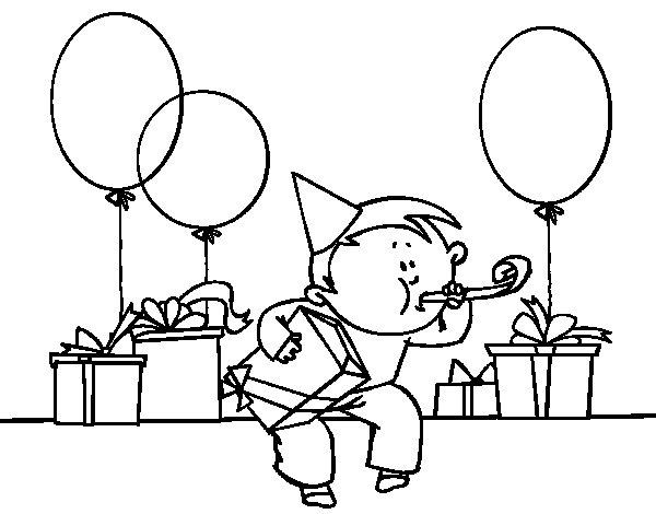 Dibujo de Fiesta de cumpleaños para Colorear