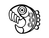 Dibujo de Figura azteca para colorear